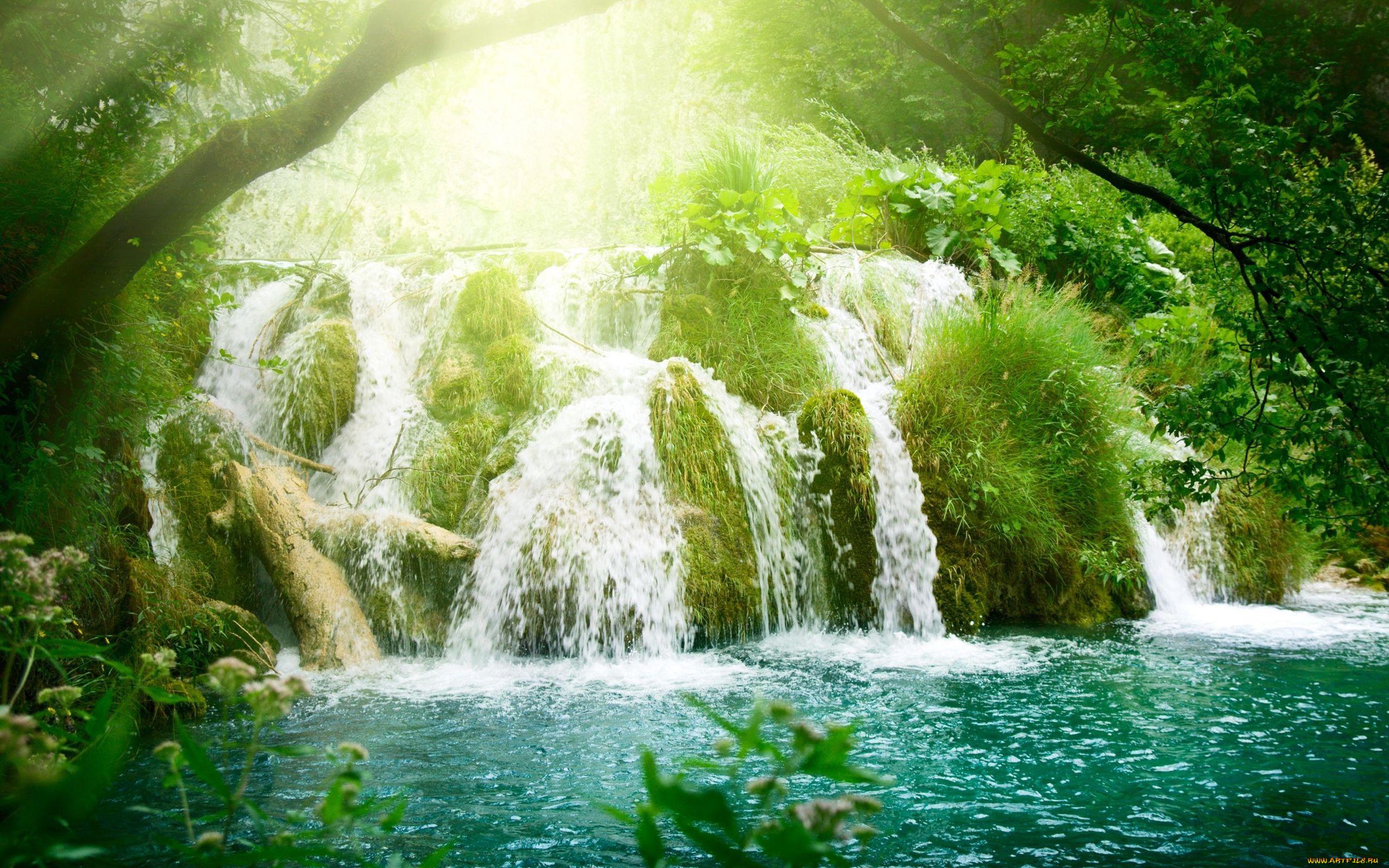 фон для рабочего стола водопады живые одна